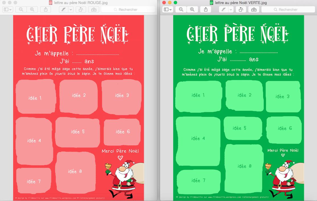 Bien-aimé La lettre au Père Noël à imprimer (FREE PRINTABLE) | VA14